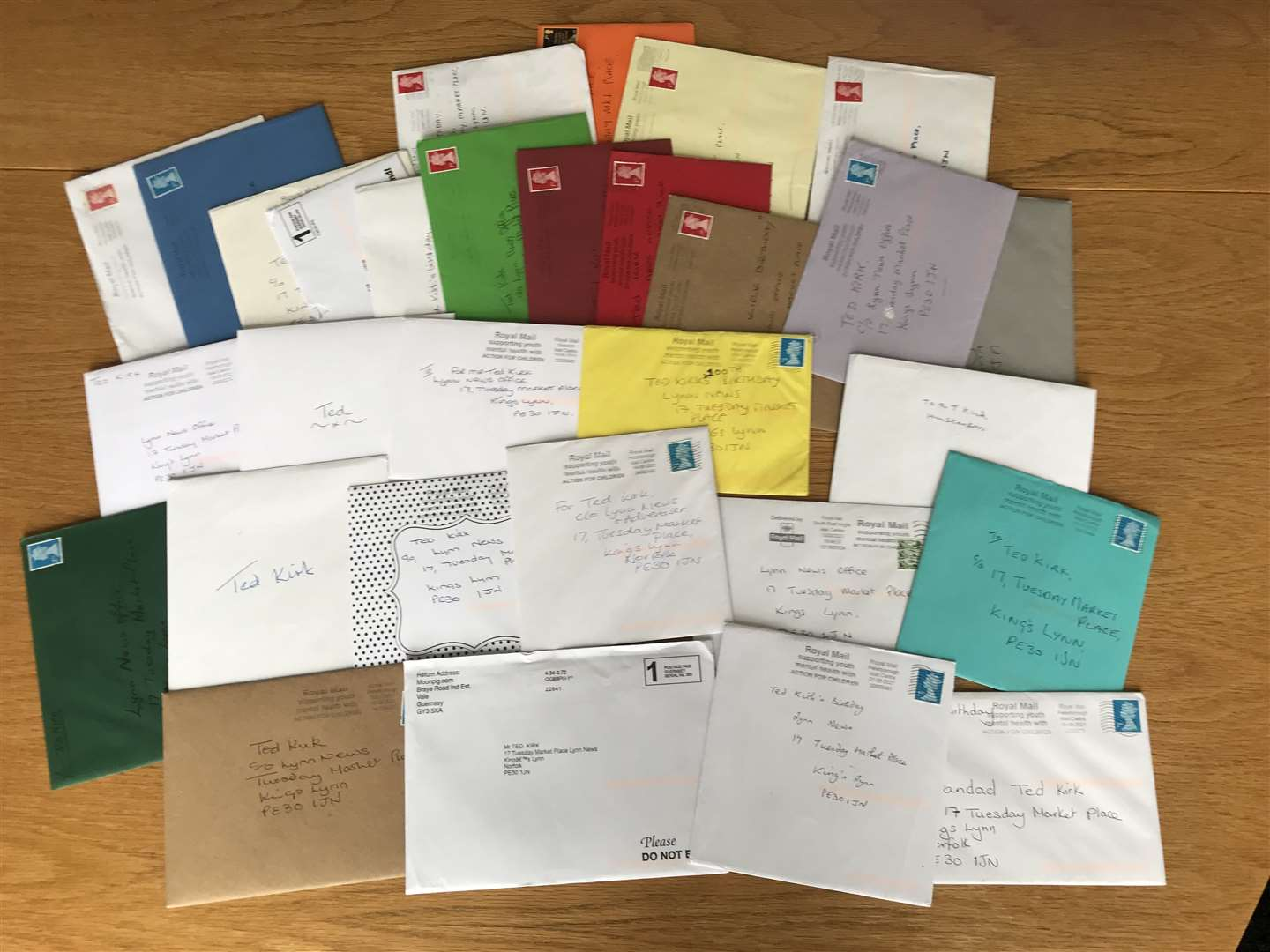 Lynn News readers have been sending in birthday cards for Ted Kirk in a bid that he receives at least 100 cards for his milestone centenary birthday. (50606169)