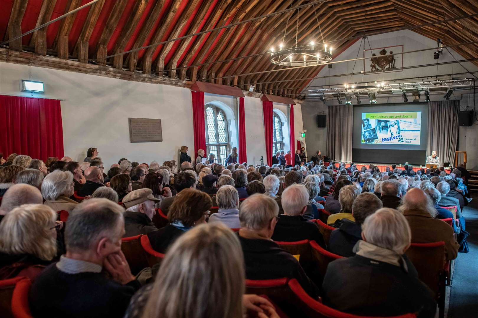 An audience in the St George's Guildhall in King's Lynn (47974530)
