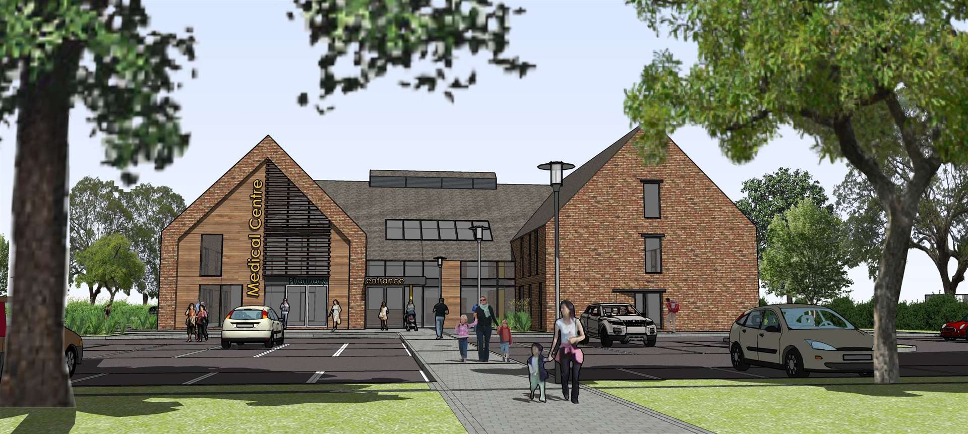 An artist's impression of the proposed replacement for the St James Medical Practice (47337924)