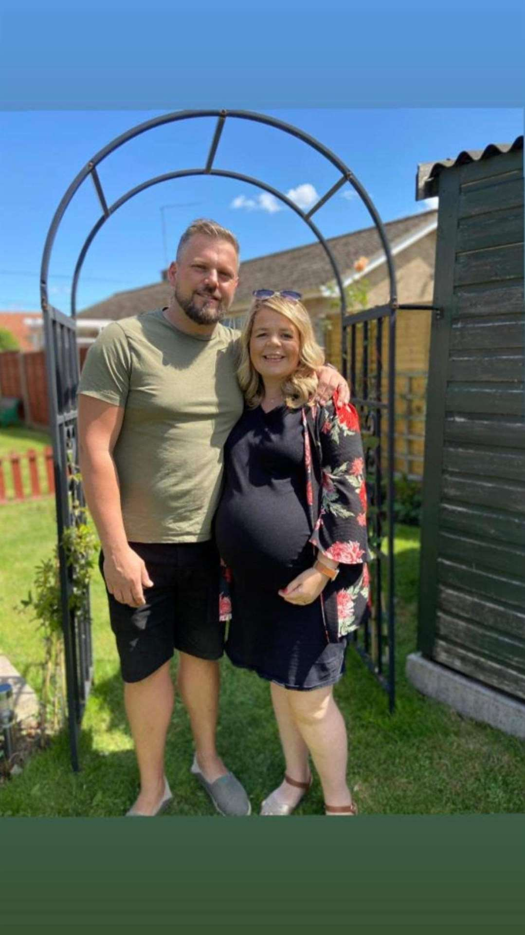 Jason and Joanne Hardy, of South Wootton, whose baby girl was born sleeping at the Queen Elizabeth Hospital in August. Picture: SUBMITTED