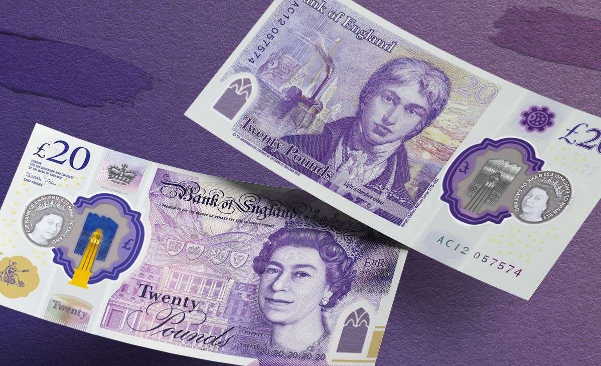 The new £20 is harder to counterfeit and will last longer than paper versions