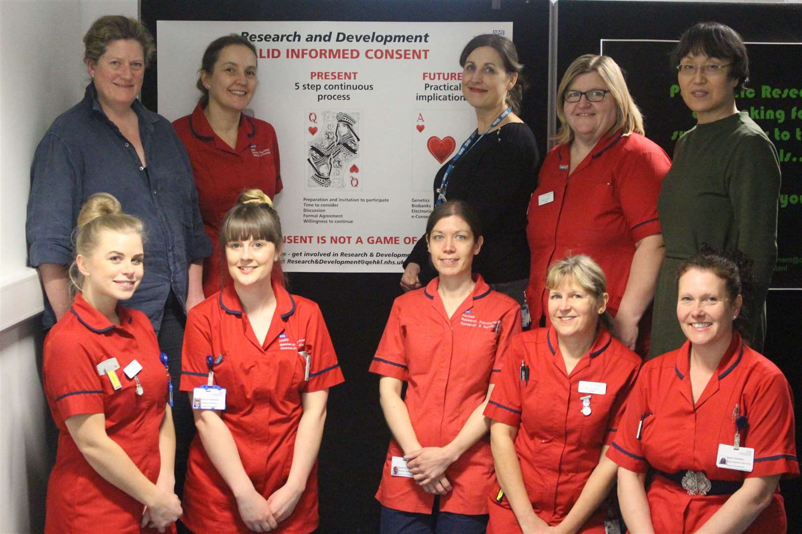 The research and development team at Lynn's Queen Elizabeth Hospital. Picture: SUBMITTED