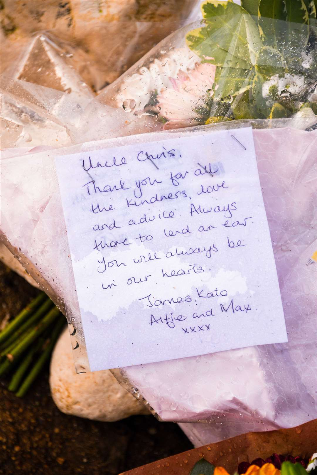 Flowers and tributes were left for Chris Bamfield, near the Sailing Club in Hunstanton