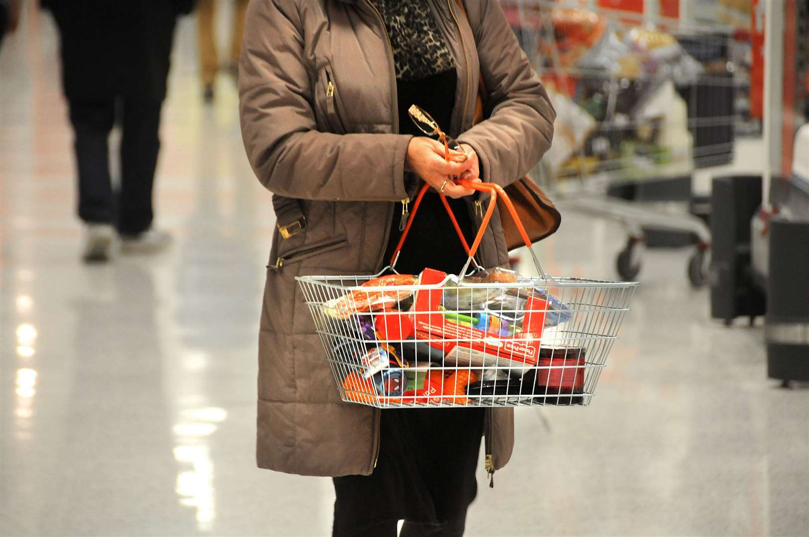 Shoppers have only been able to pay for items with cash