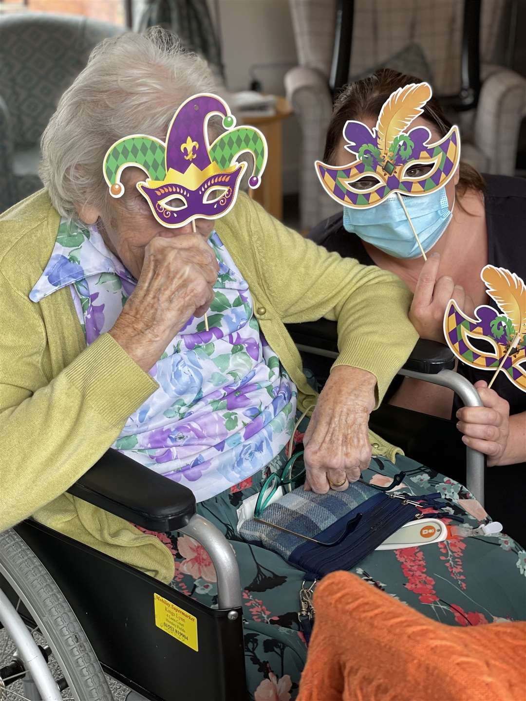 King's Lynn residential care home enjoy a masked carnival afternoon (49478695)