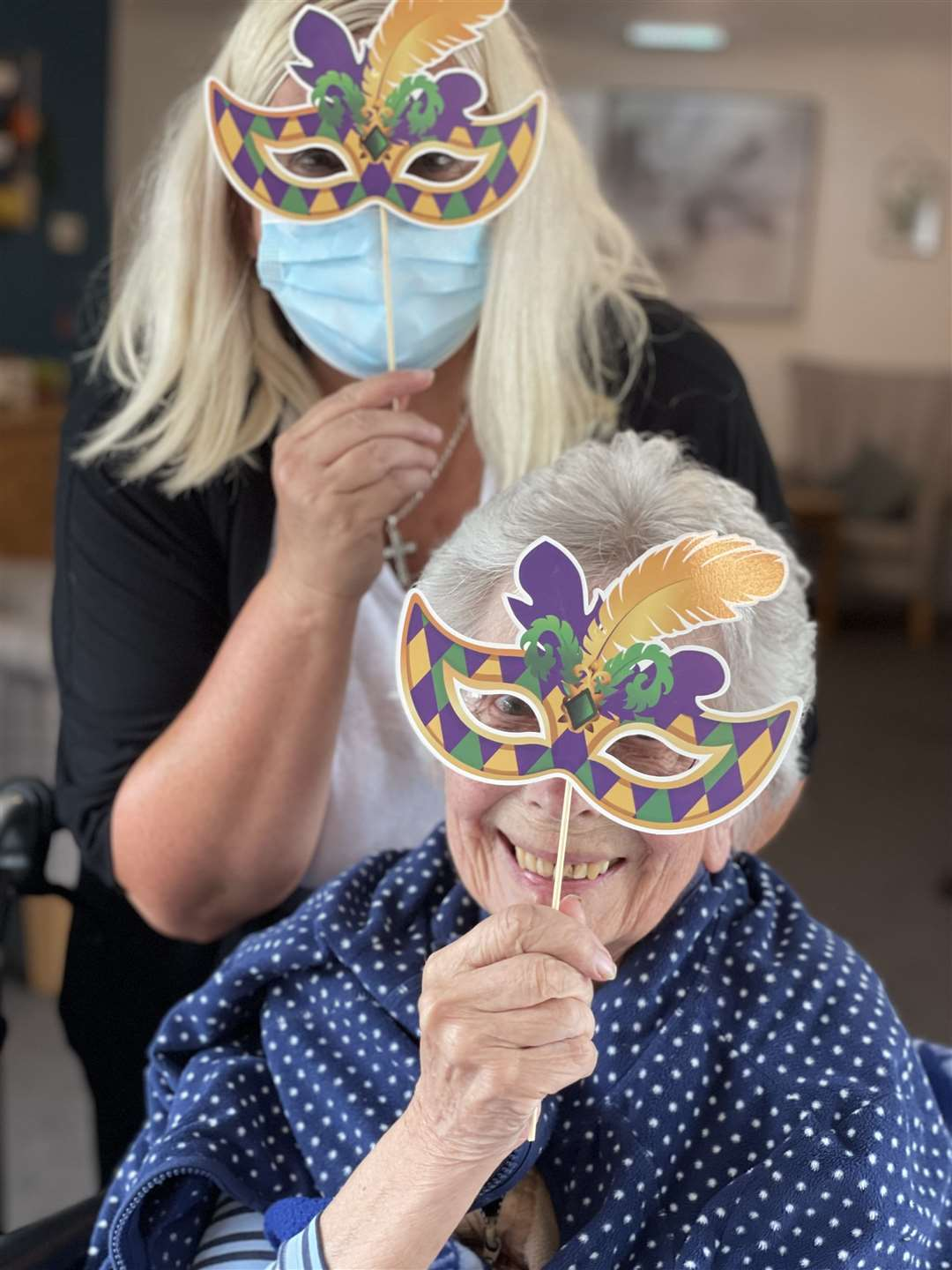 King's Lynn residential care home enjoy a masked carnival afternoon (49478780)