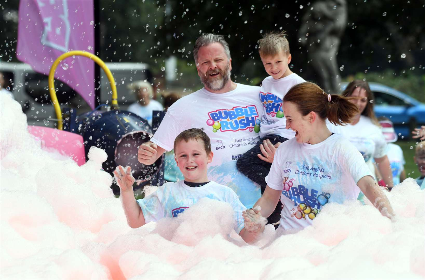 Bubble Rush at The Walks in Kings Lynn. MLNF-21AF09586