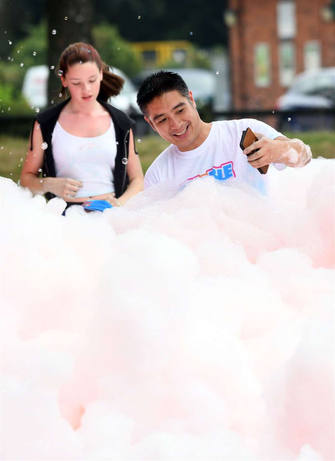 Bubble Rush at The Walks in Kings Lynn. MLNF-21AF09590
