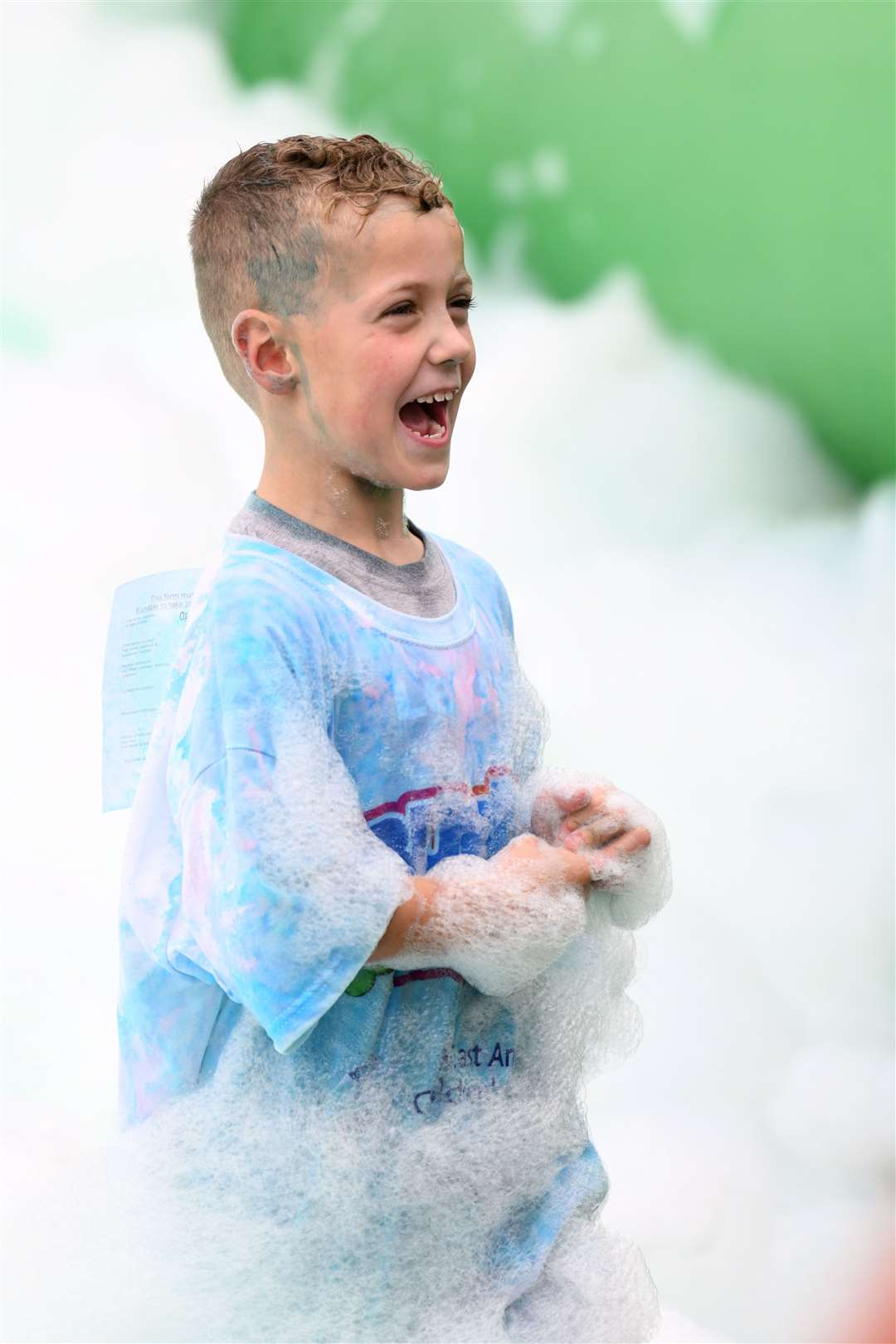 Bubble Rush at The Walks in Kings Lynn. MLNF-21AF09593