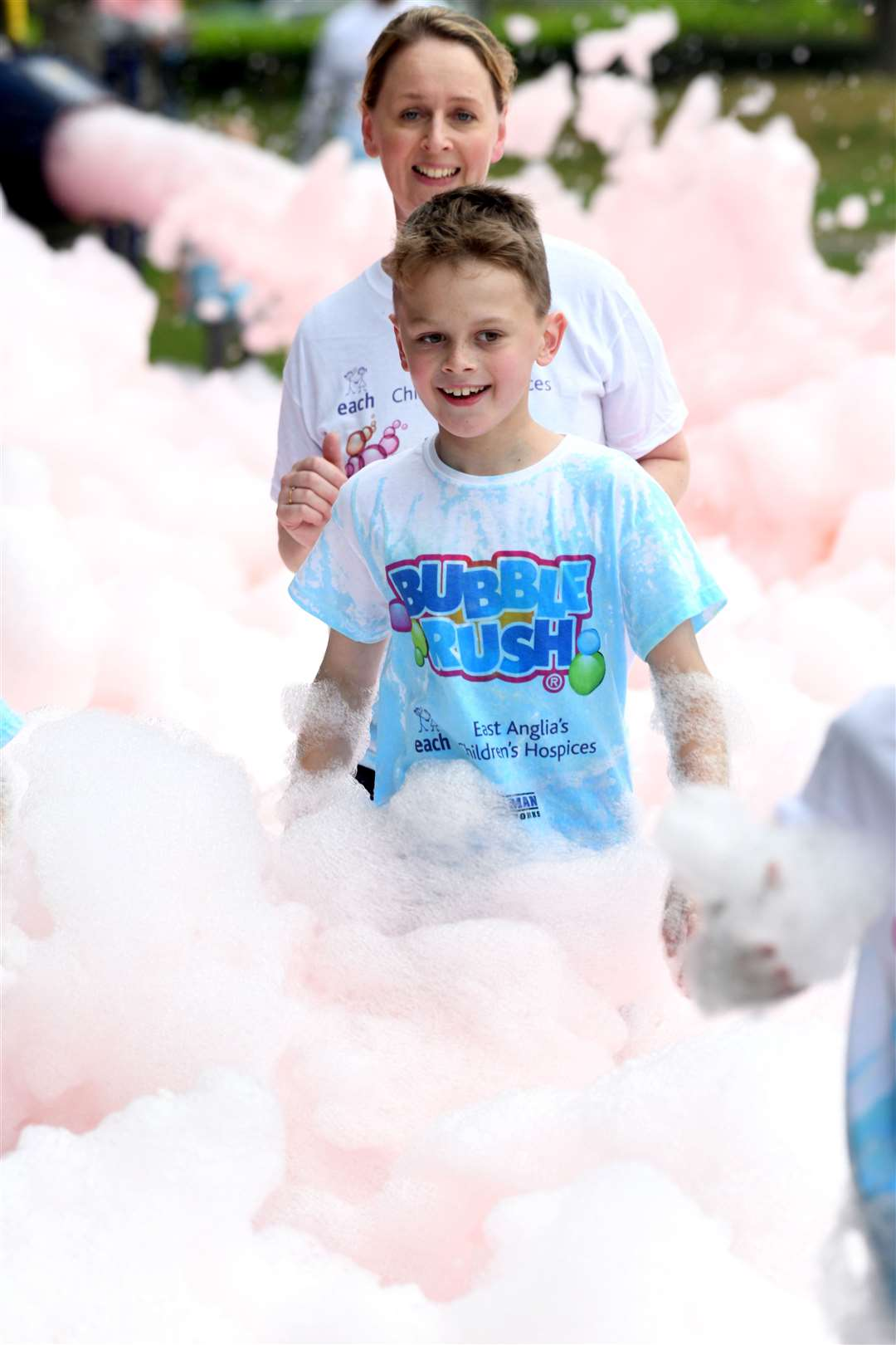Bubble Rush at The Walks in Kings Lynn. MLNF-21AF09594