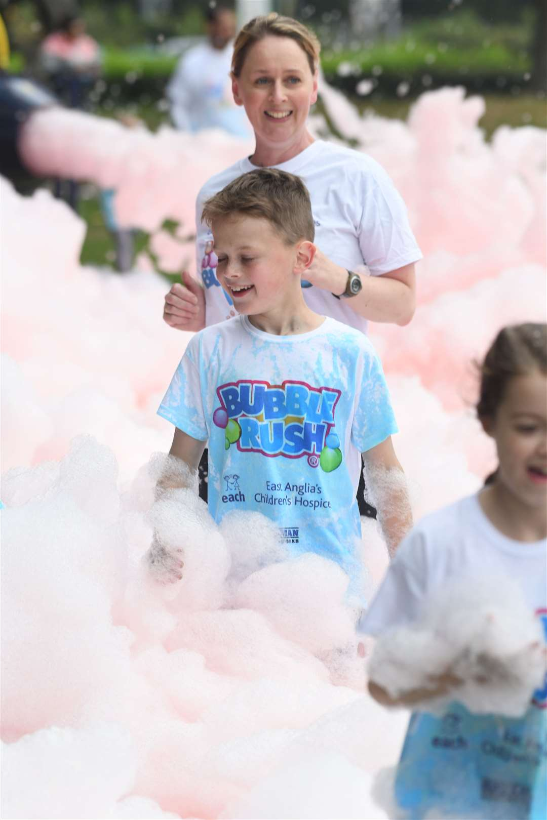 Bubble Rush at The Walks in Kings Lynn. MLNF-21AF09597