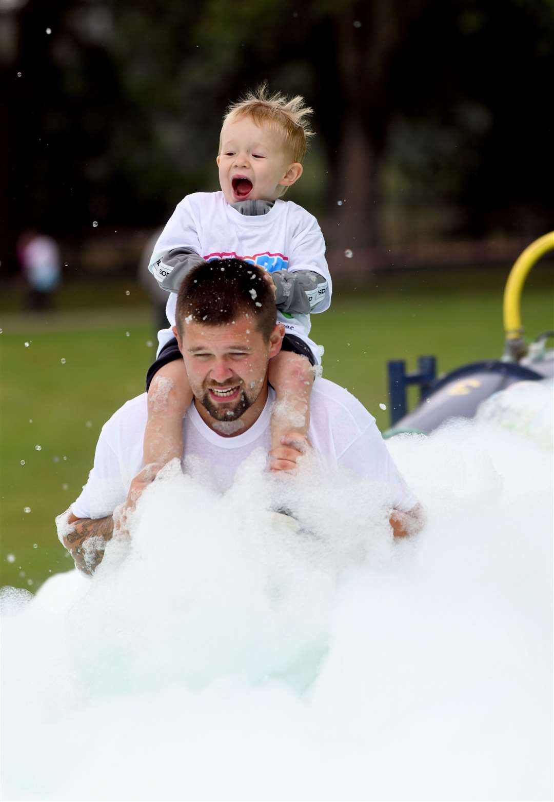 Bubble Rush at The Walks in Kings Lynn. MLNF-21AF09598