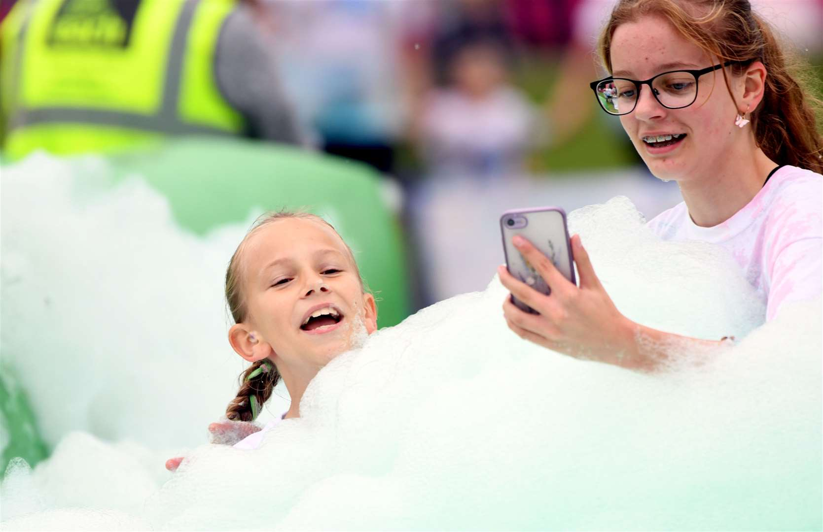 Bubble Rush at The Walks in Kings Lynn. MLNF-21AF09599