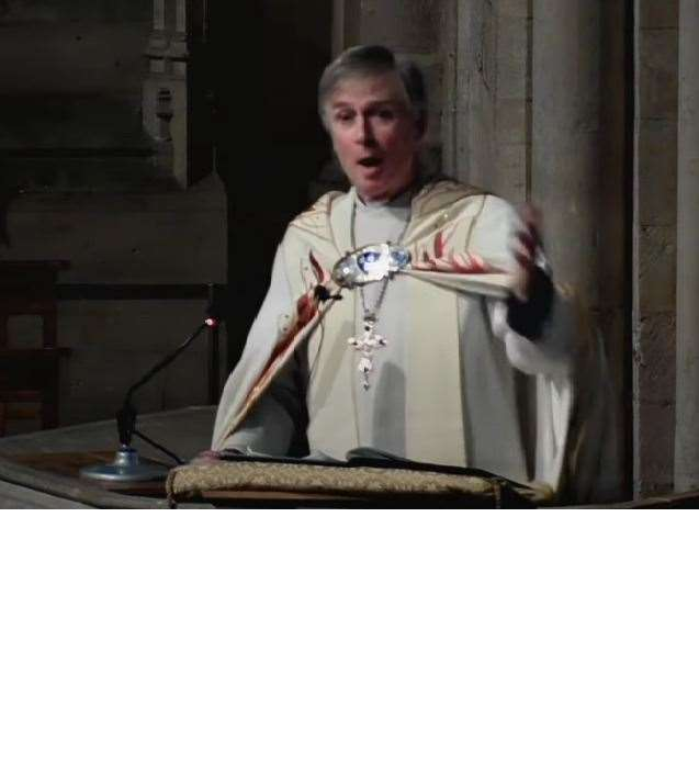 The Rt Rev Jonathan Meyrick delivering his farewell sermon at Norwich Cathedral (44164191)
