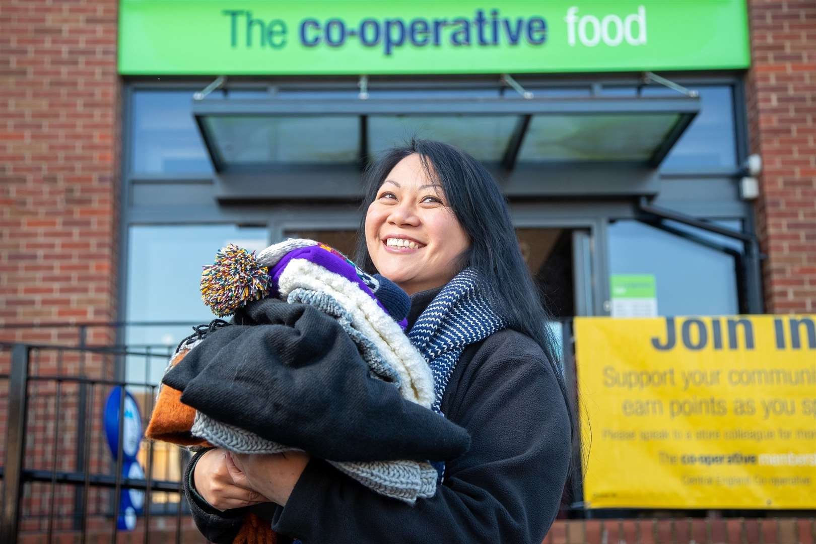 Central England Co-op has donated over 300 warm clothing packs to four good causes to help the homeless survive the winter weather. (43418588)