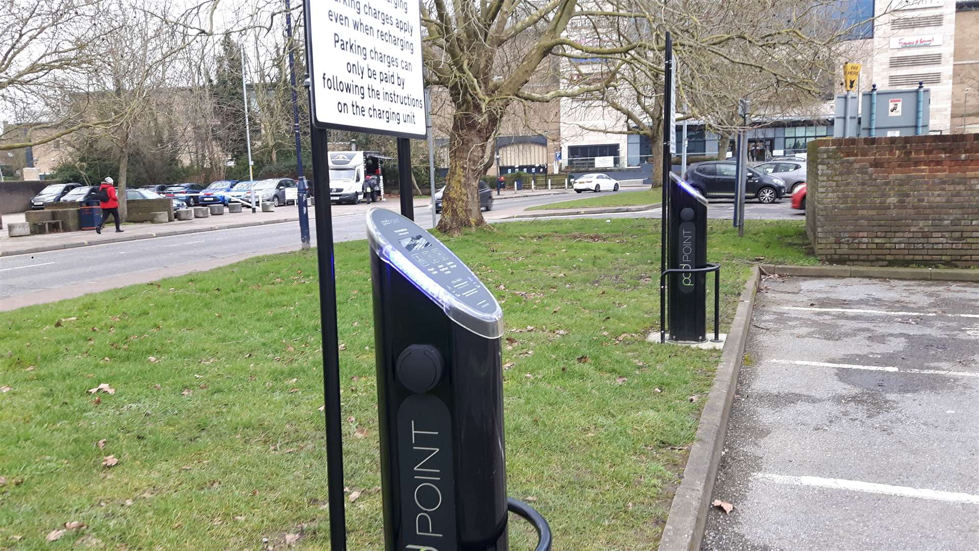 Car parks, pubs and supermarket car parks are among the places to find electric car charging points