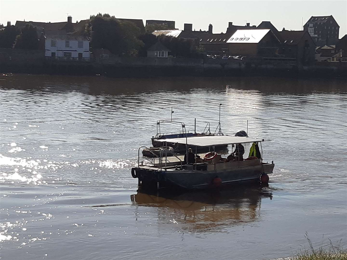 Lynn's pedestrian ferry back on the water this morning (49402992)