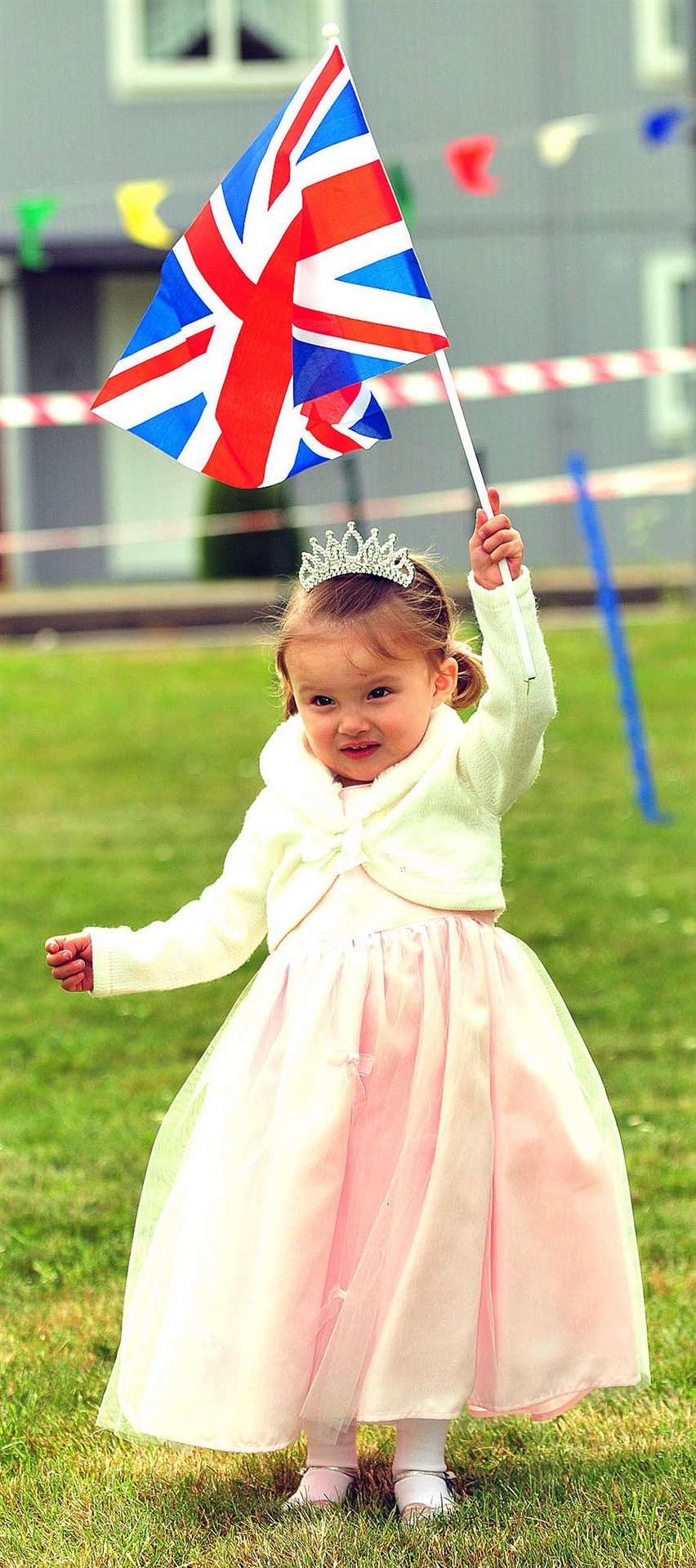 Royal Wedding party at Hickathrift House care home. Eve White (2) enters the fancy dress competition.. (46651506)