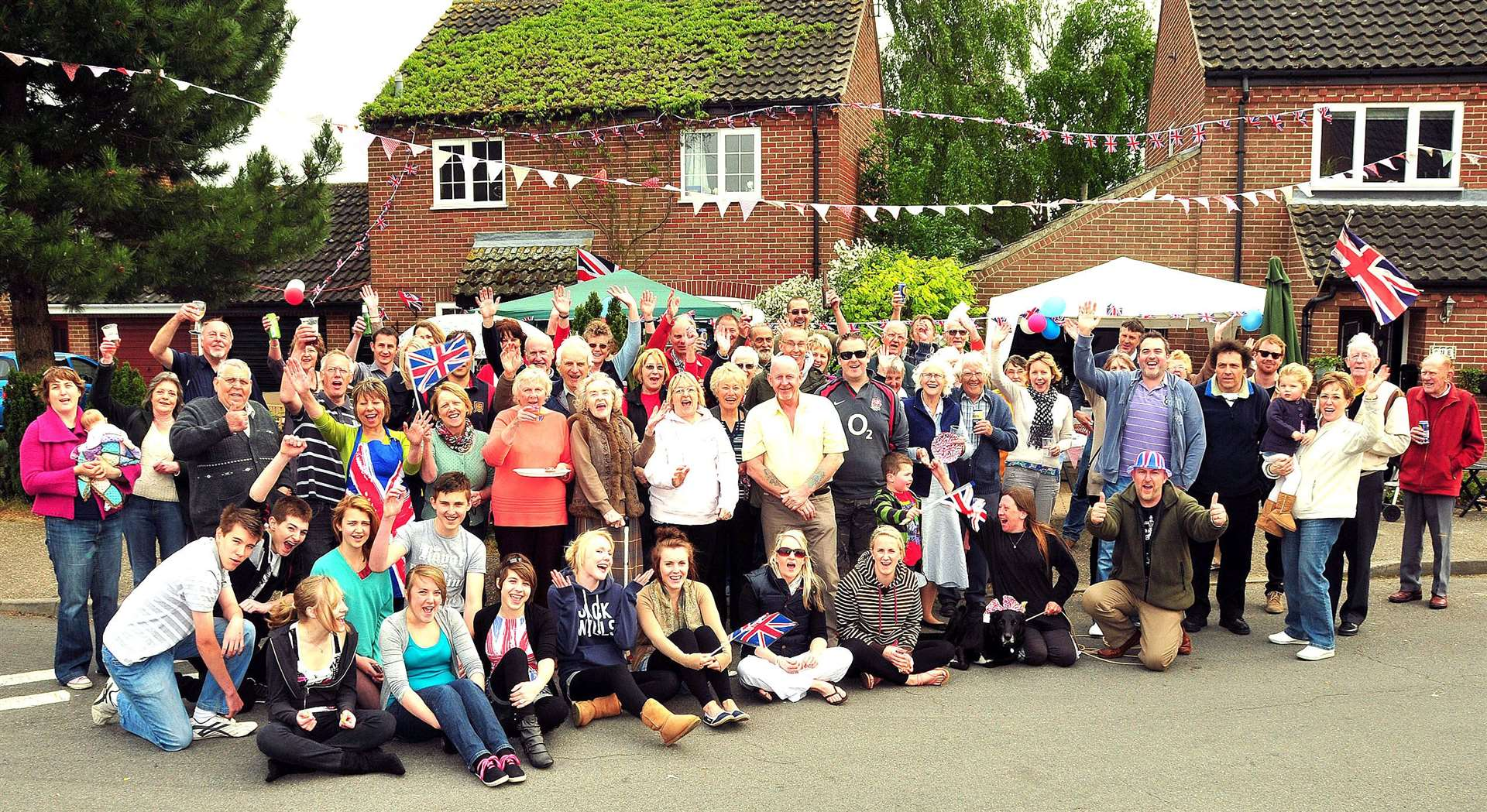Royal wedding street party on Sutton road and Ranworth close in Swaffham.. (46651647)
