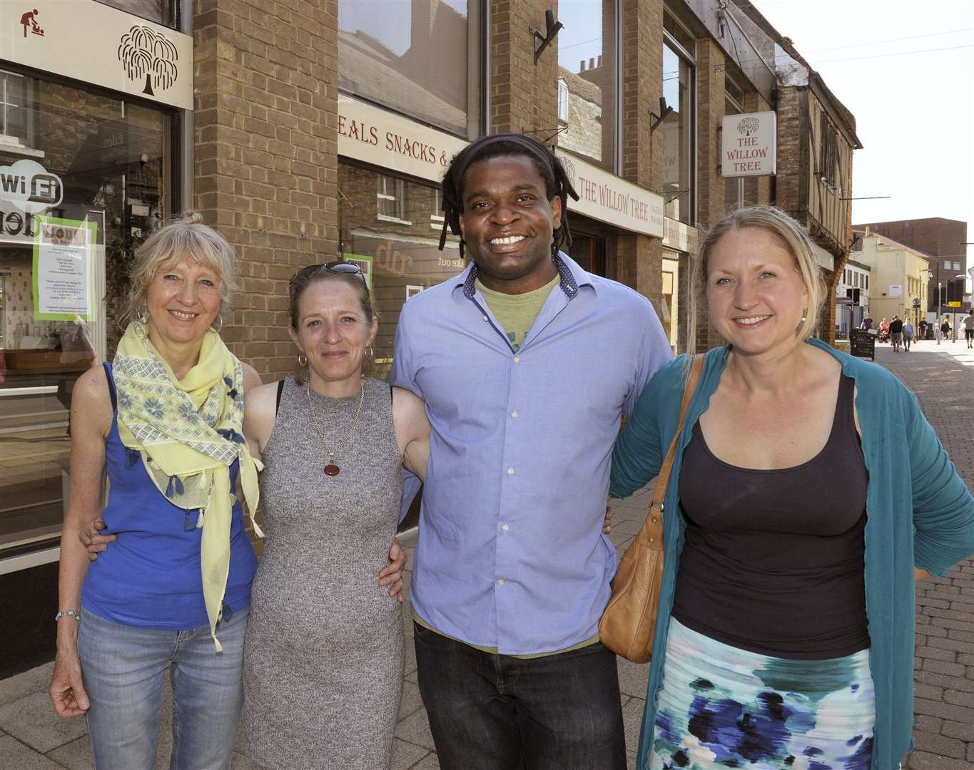 The new business and owners of the Soul Cafe and Restaurant in Tower Street King's Lynn (former Willow Tree Restaurant) and it is due to open early to mid-July.LtoR, Teresa Payne, Tamsin Payne, Olivier Vati, Helen Payne.. (51816519)
