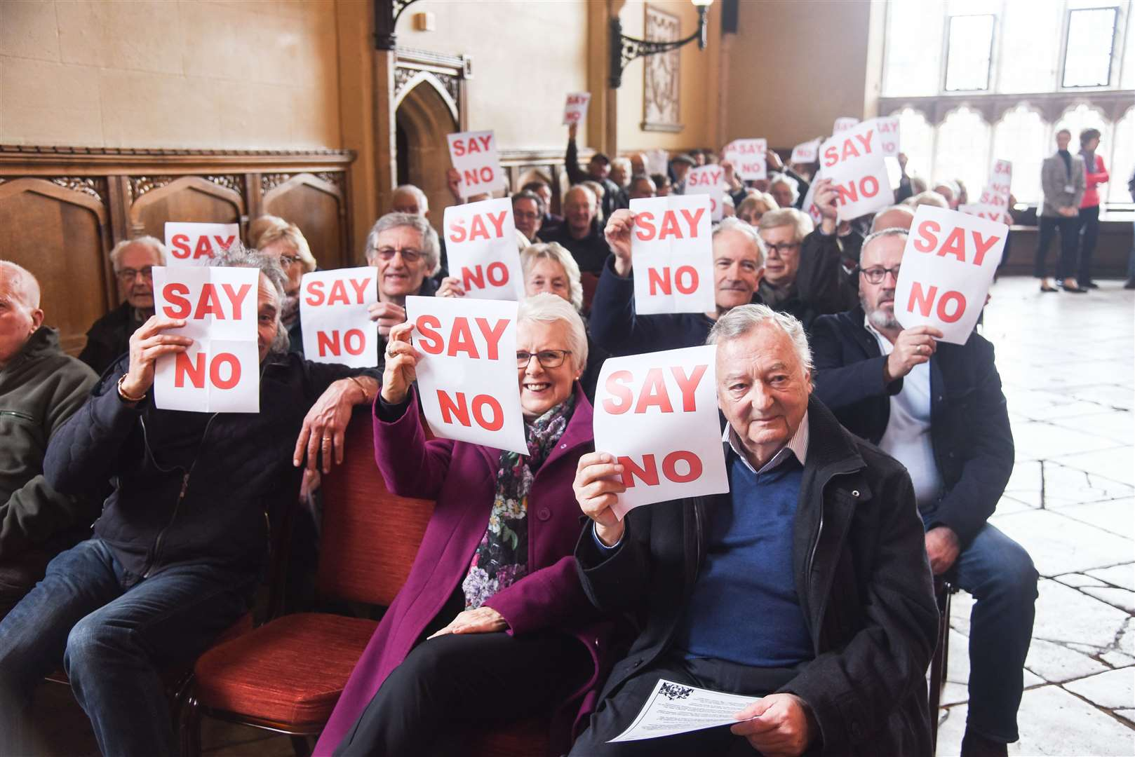 A packed town hall meeting saw the Knights Hill plan rejected last year.