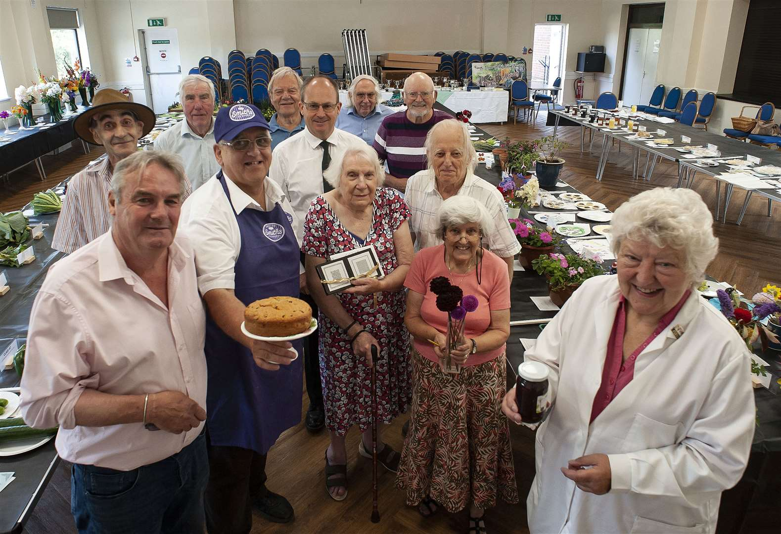King's Lynn Horticultural Show at South Wootton Village Hall..Pictured Judges and Members of the Society.. (50218121)