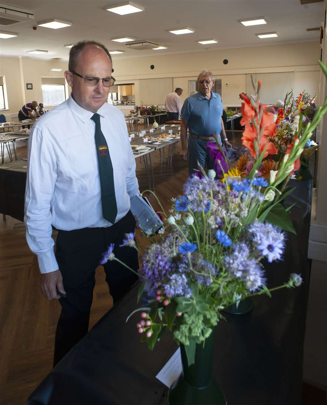 King's Lynn Horticultural Show at South Wootton Village Hall..Pictured Judge Paul Robson.. (50218122)