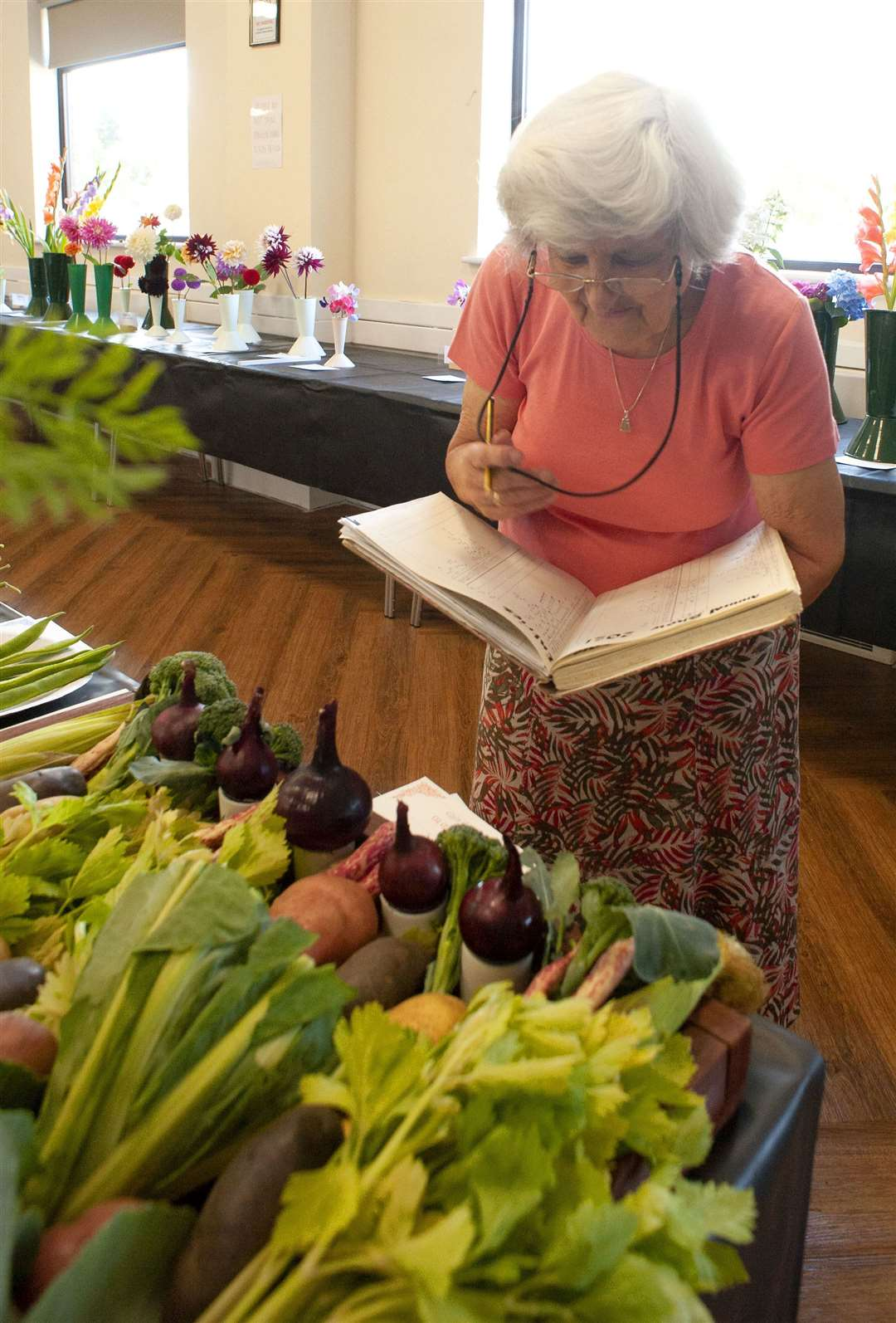 King's Lynn Horticultural Show at South Wootton Village Hall. Pictured is show secretary Rachel Vyse.