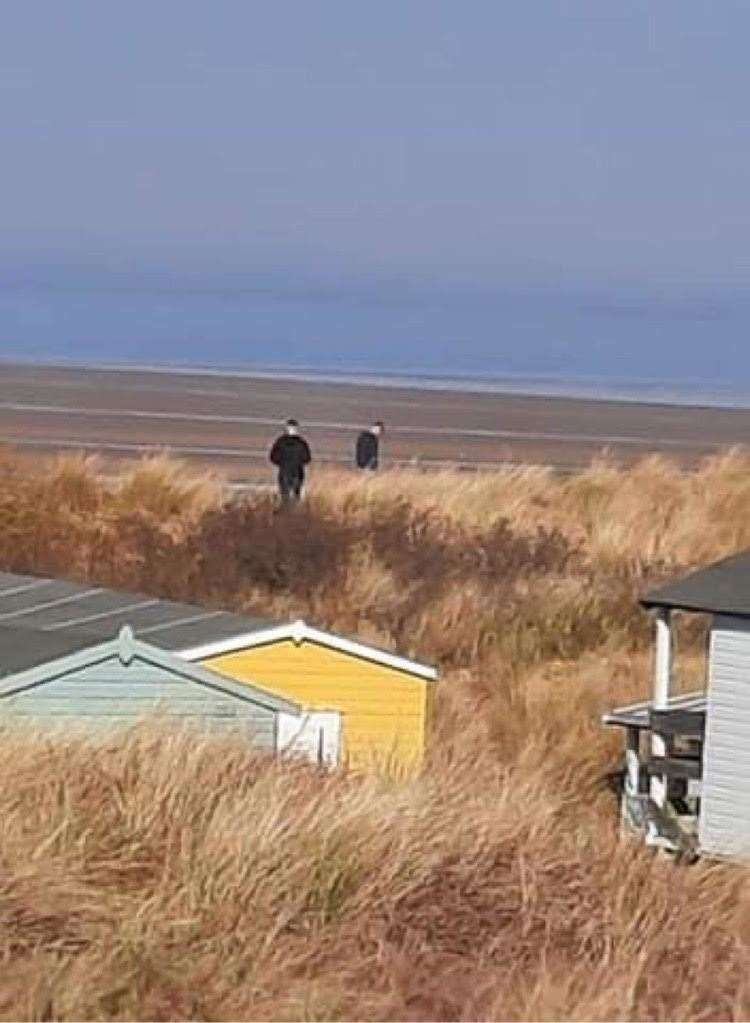 Two men acting suspicously on Old Hunstanton beach as dogs are targeted in the area. (44853699)