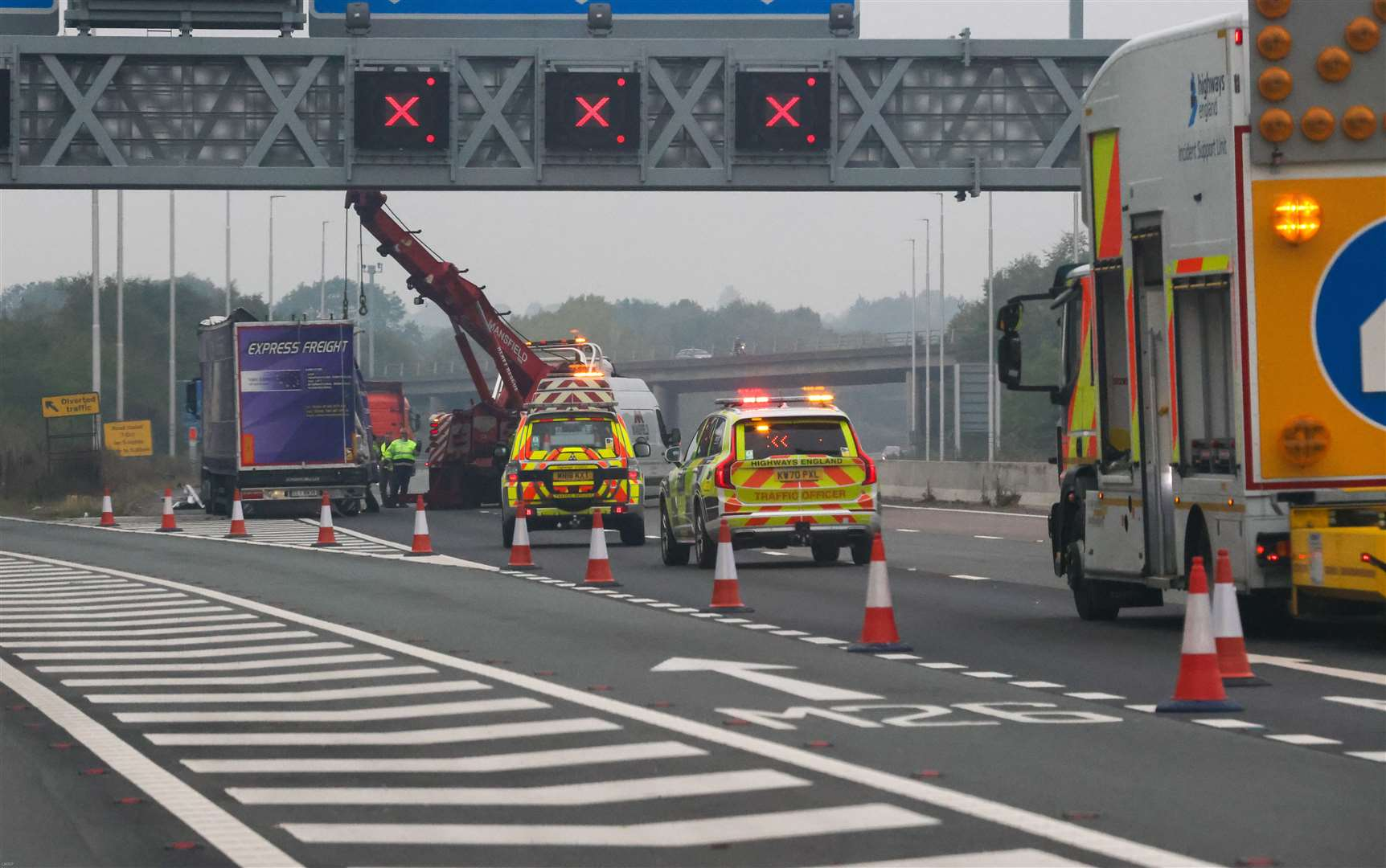 Drivers caught driving in closed motorway lanes will now be detected by cameras