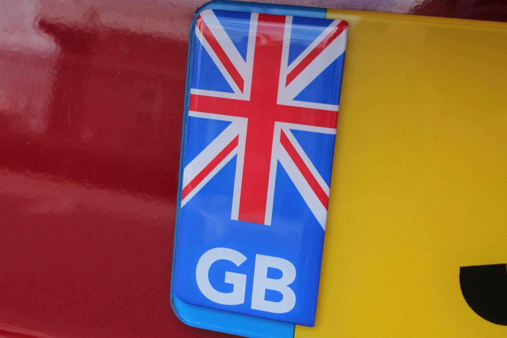 The old GB style number plate is also being replaced with a UK version