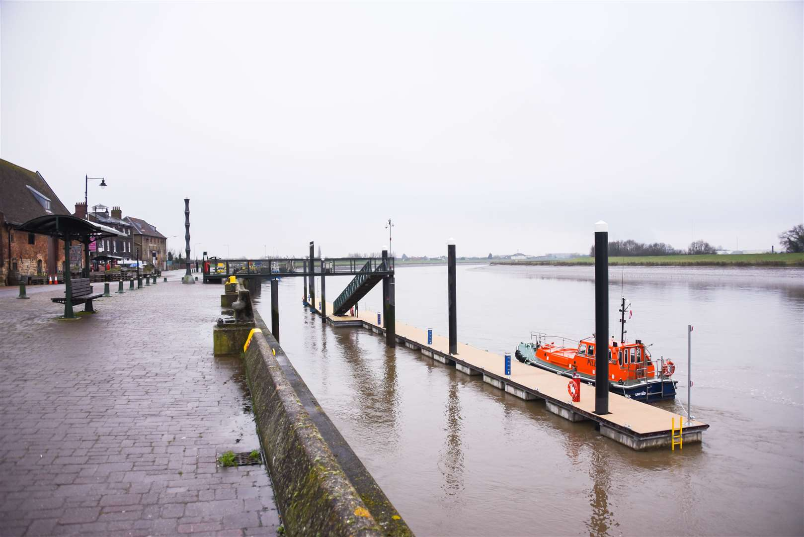 The new pontoon on the river in King's Lynn.. (43755335)
