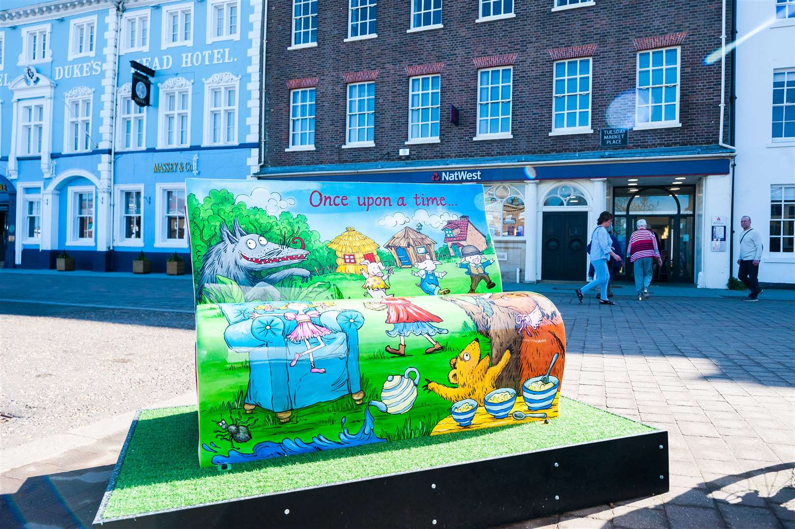 The official launch of the Explore-a-book, a brand new book bench trail, in West Norfolk.. (45668916)