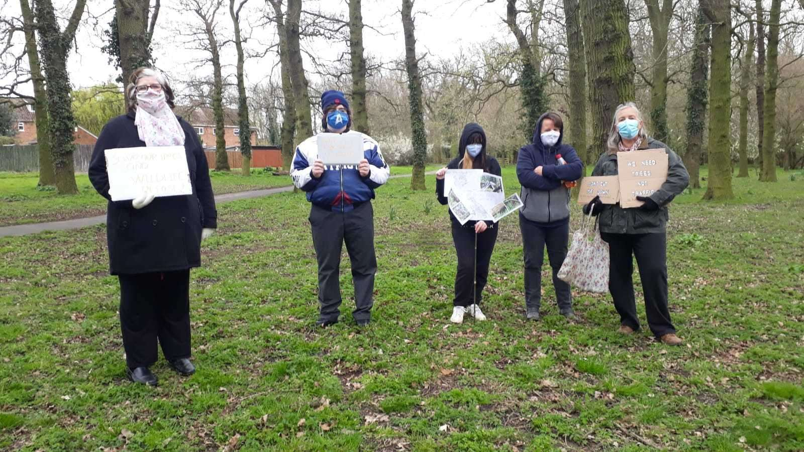 Extinction Rebellion activists protesting at the Parkway site in Gaywood (46086617)