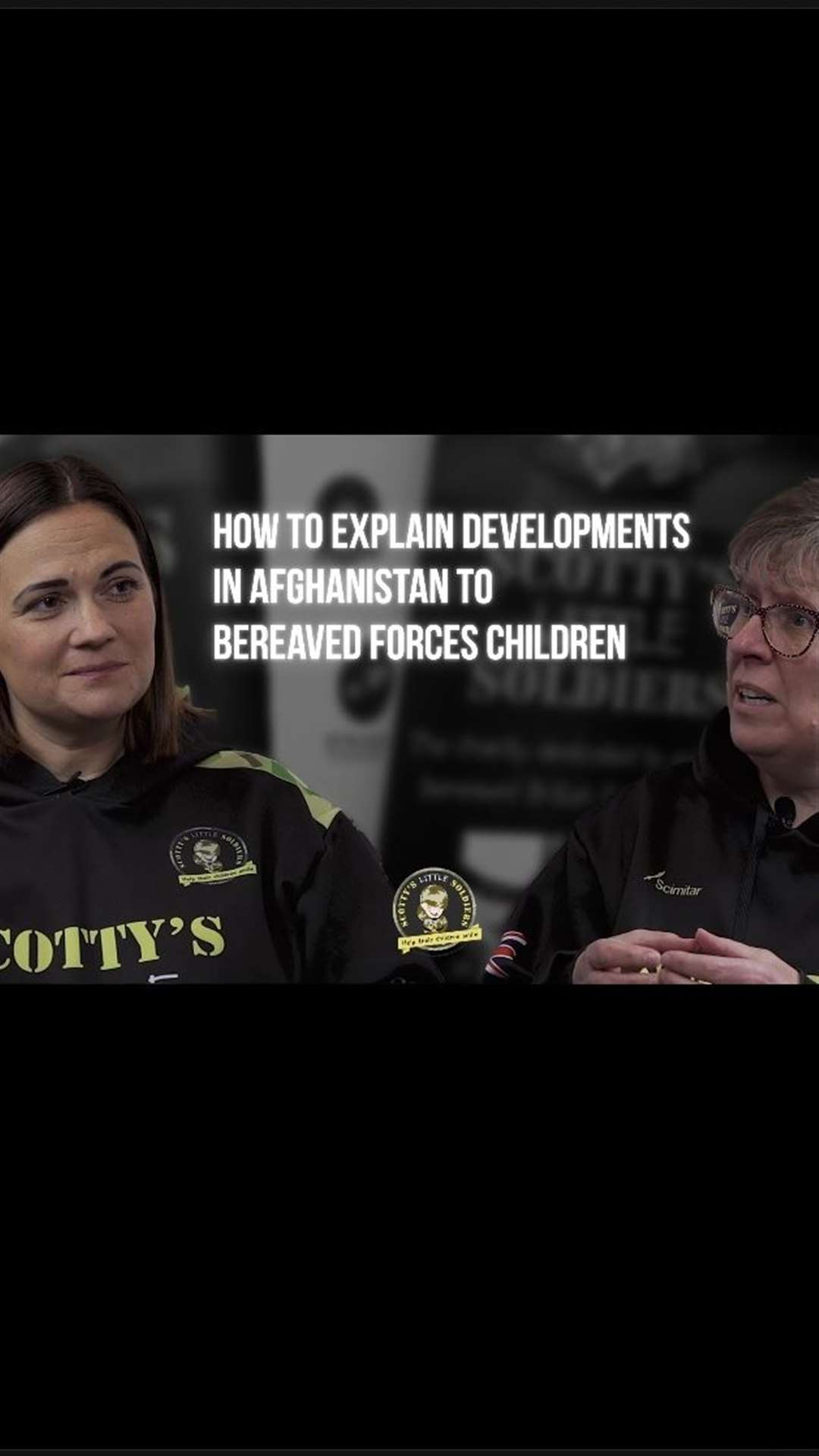 With developments in Afghanistan Nikki Scott, founder of Scotty's Little Soldiers reaches out to Lorna Vyse, childhood bereavement practitioner. (50758381)