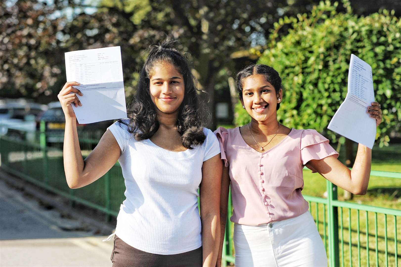 Top performing students Merissa Lawrence and An Handdrasekar. Picture: Ian Burt. (50158906)