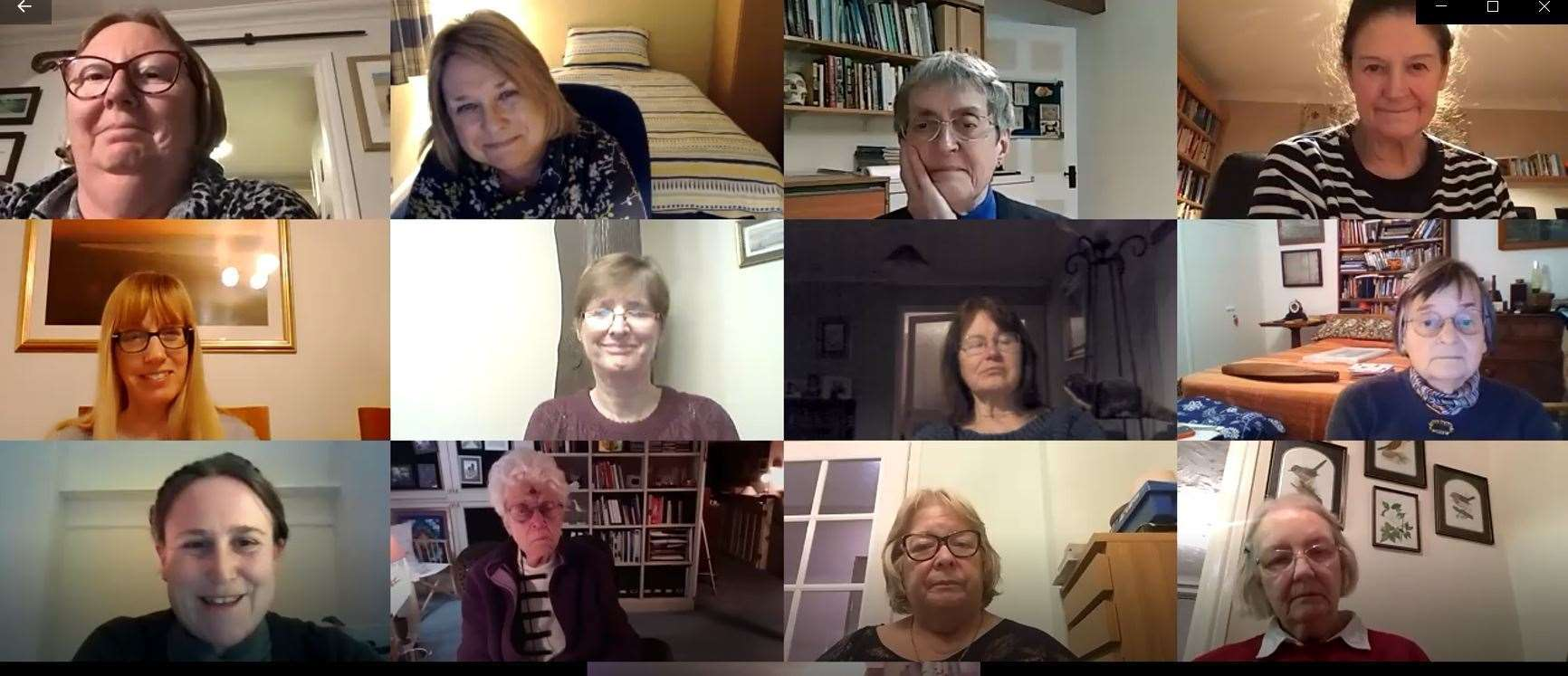 Soroptomist International's Zoom meeting with Winter Night Shelter co-ordinator Lucy McKitterick pictured bottom left. Picture: SUBMITTED