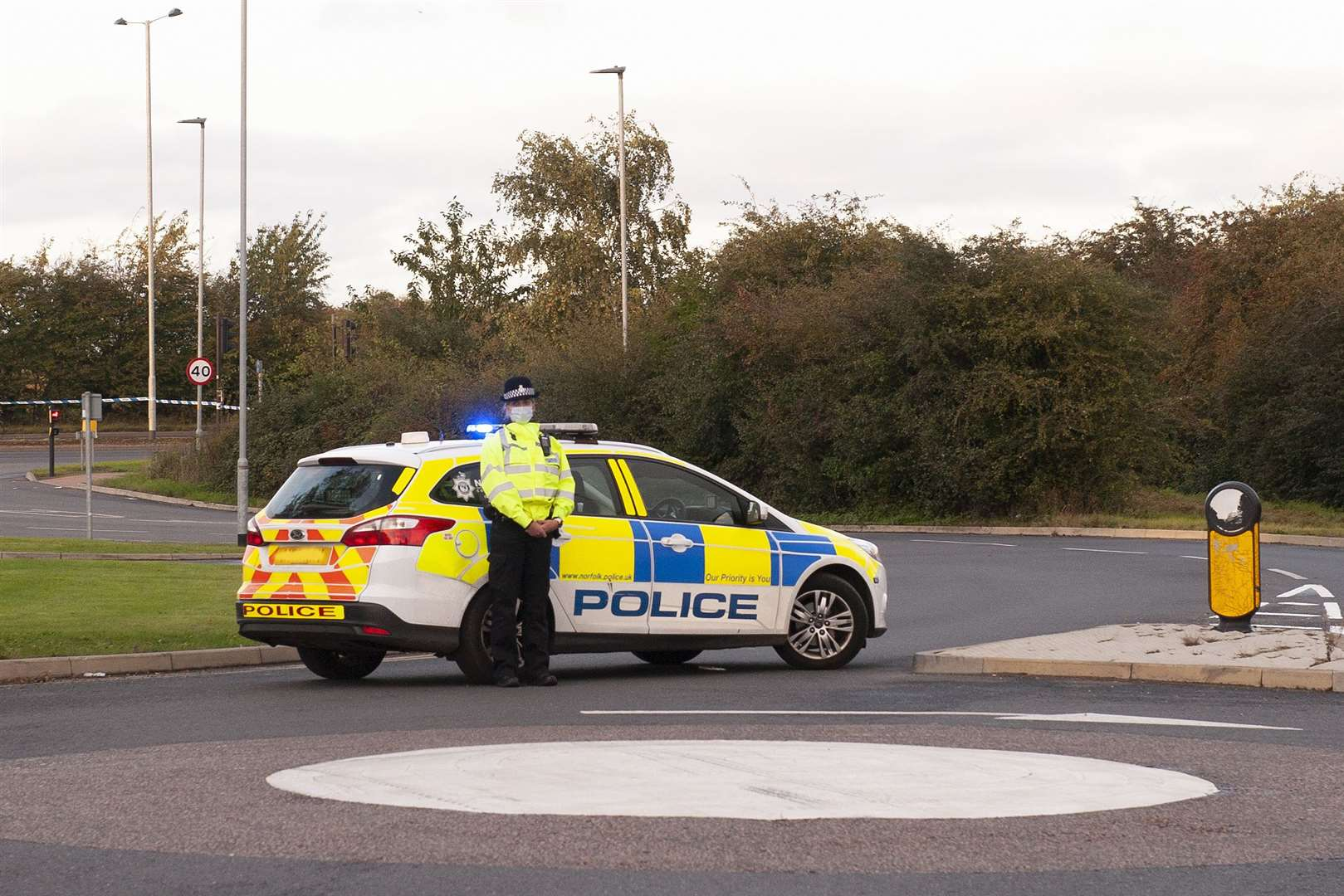 RTA on the Northern Bypass Road Closed. Emergency Services at the scene.. (52192185)
