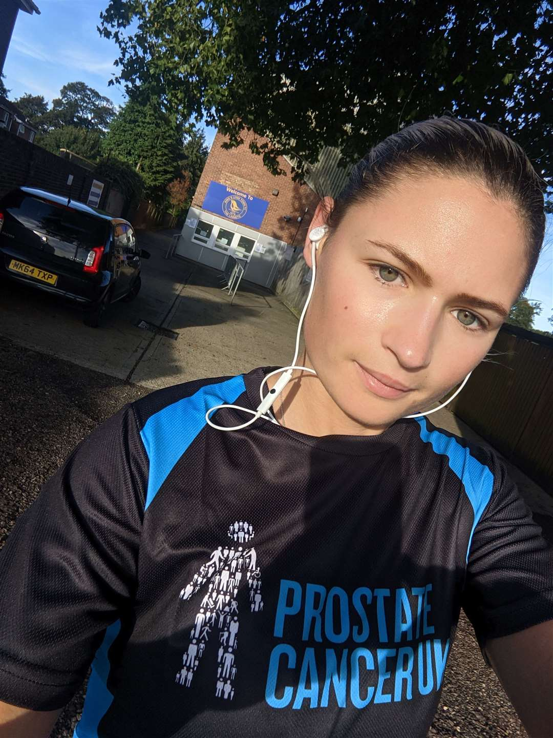 Lucy Moore is running every day throughout October to raise money for Prostate Cancer UK charity. (51954395)