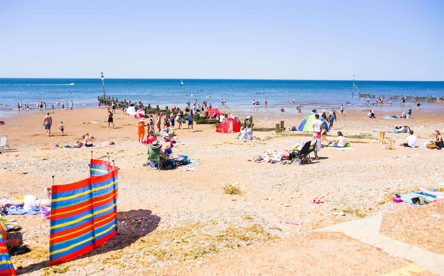 People are being asked to be extra careful in the sun with forecast temperatures in the high twenties and low thirties.