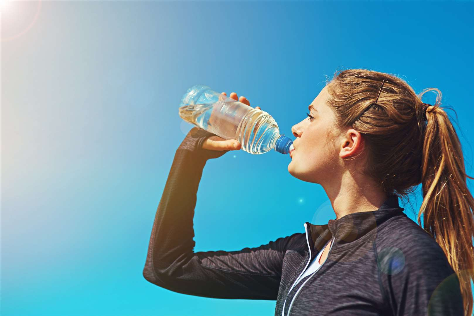 People are being reminded to drink water and avoid exercise in the mid-day heat