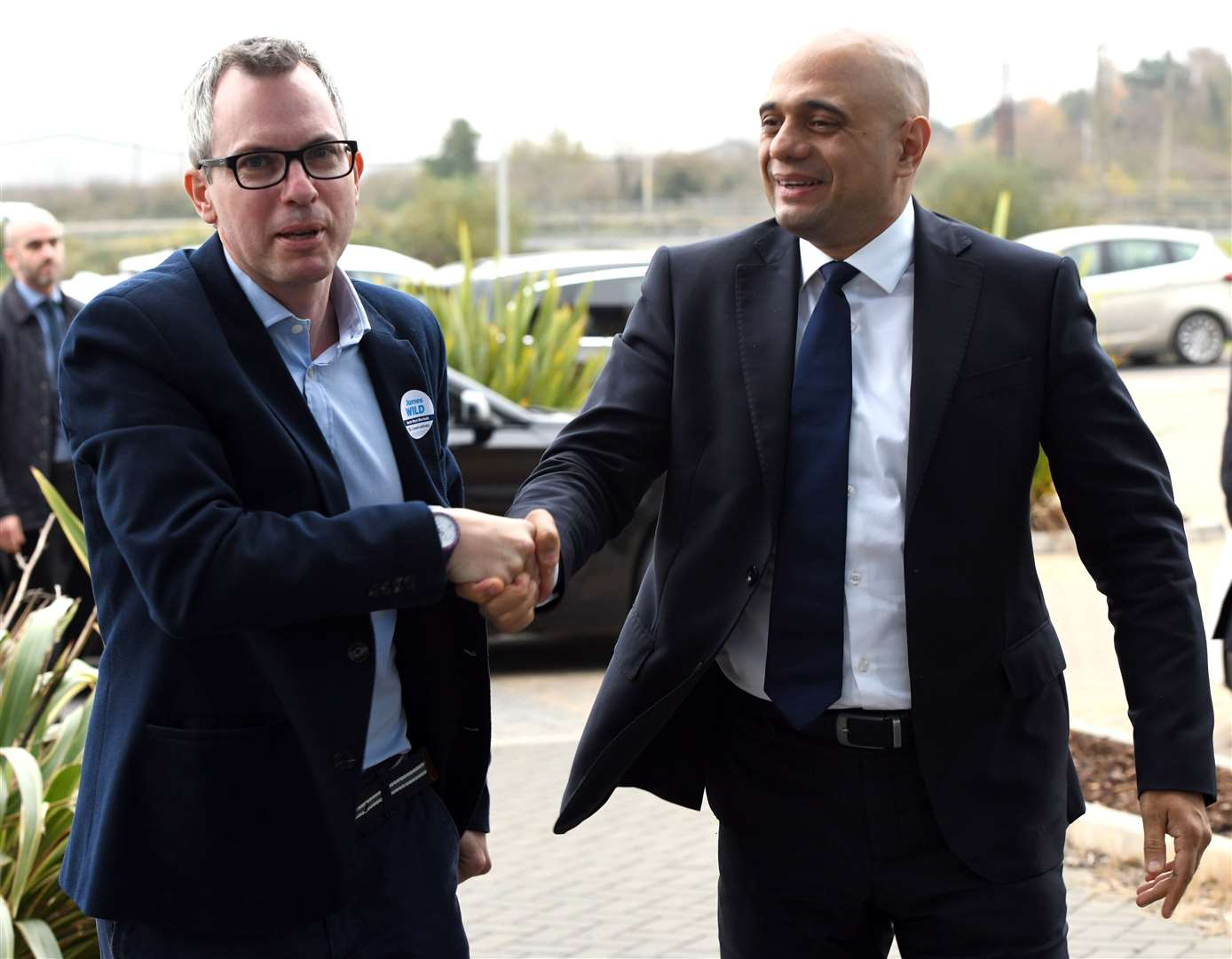 The new Health Secretary Sajid Javid, seen here with MP James Wild during a visit to King's Lynn in 2019, has been invited to visit the QEH.