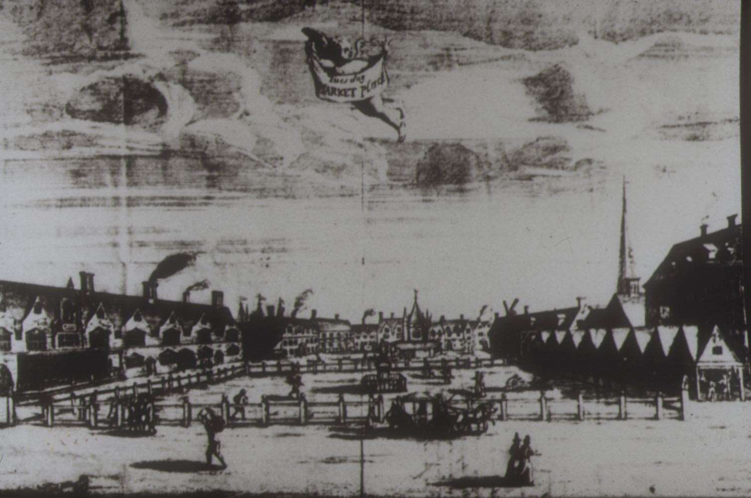 How Lynn's Tuesday Market Place looked during the Mart of 1690 (44370592)