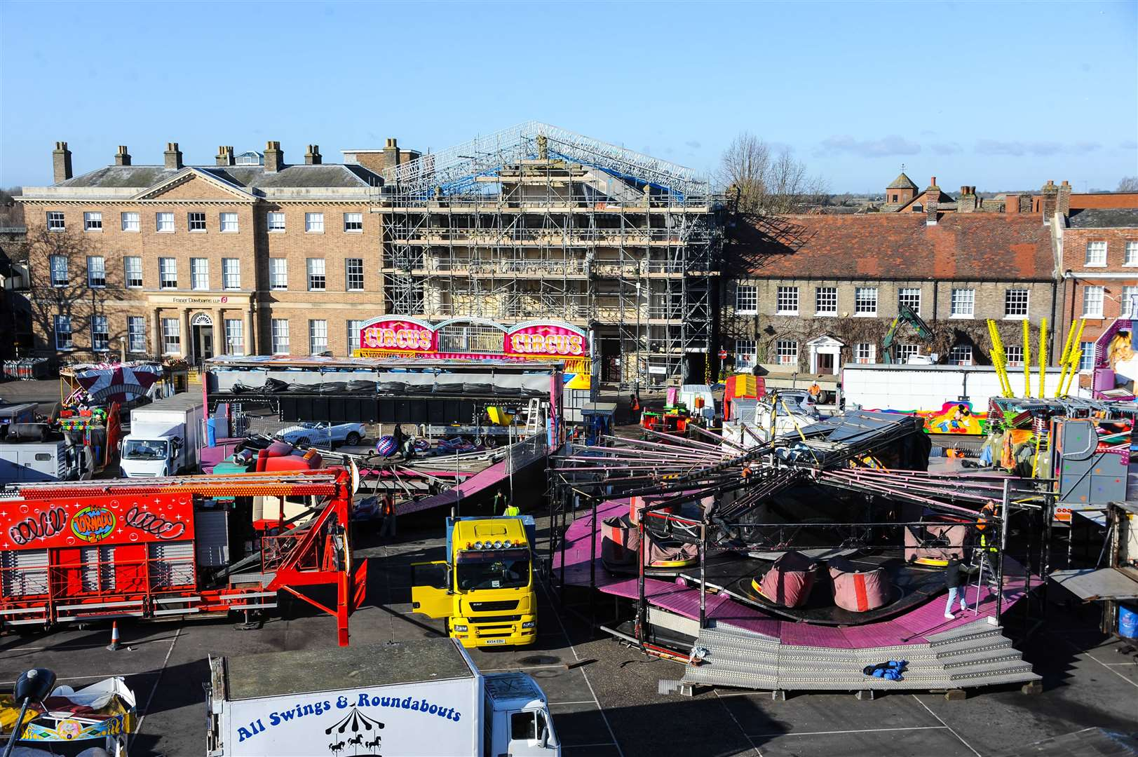 How the Tuesday Market Place looked a year ago at the start of the Mart.