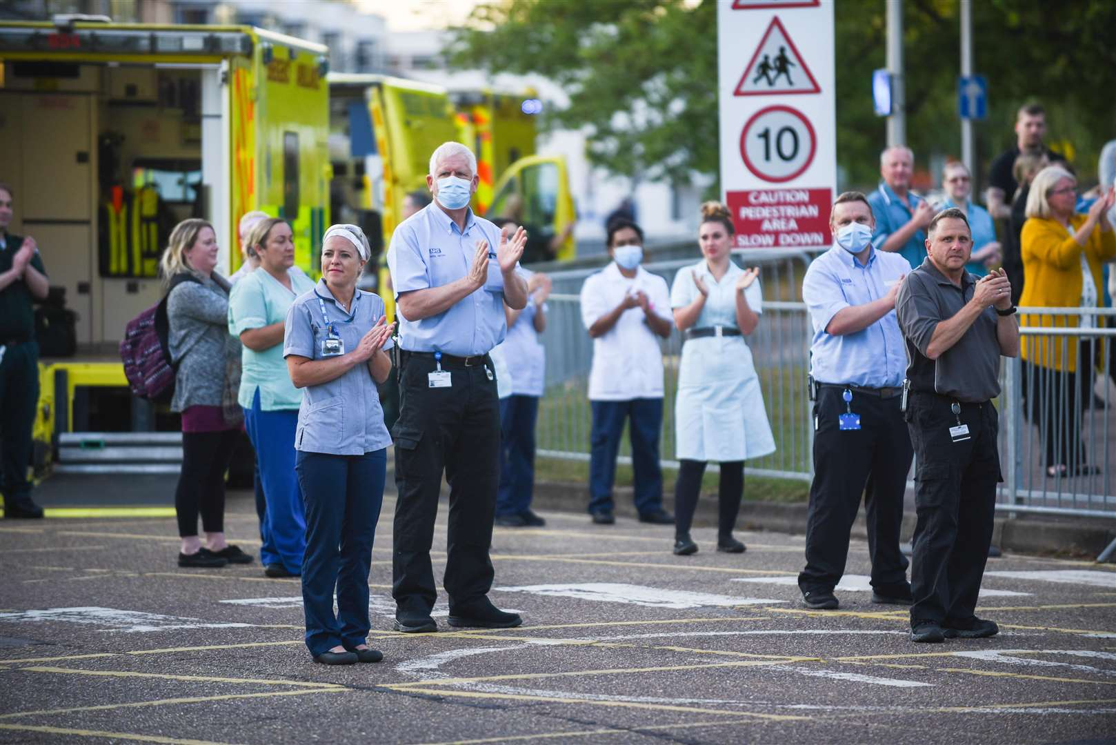 Clap for our Carers at the QEH in the summer