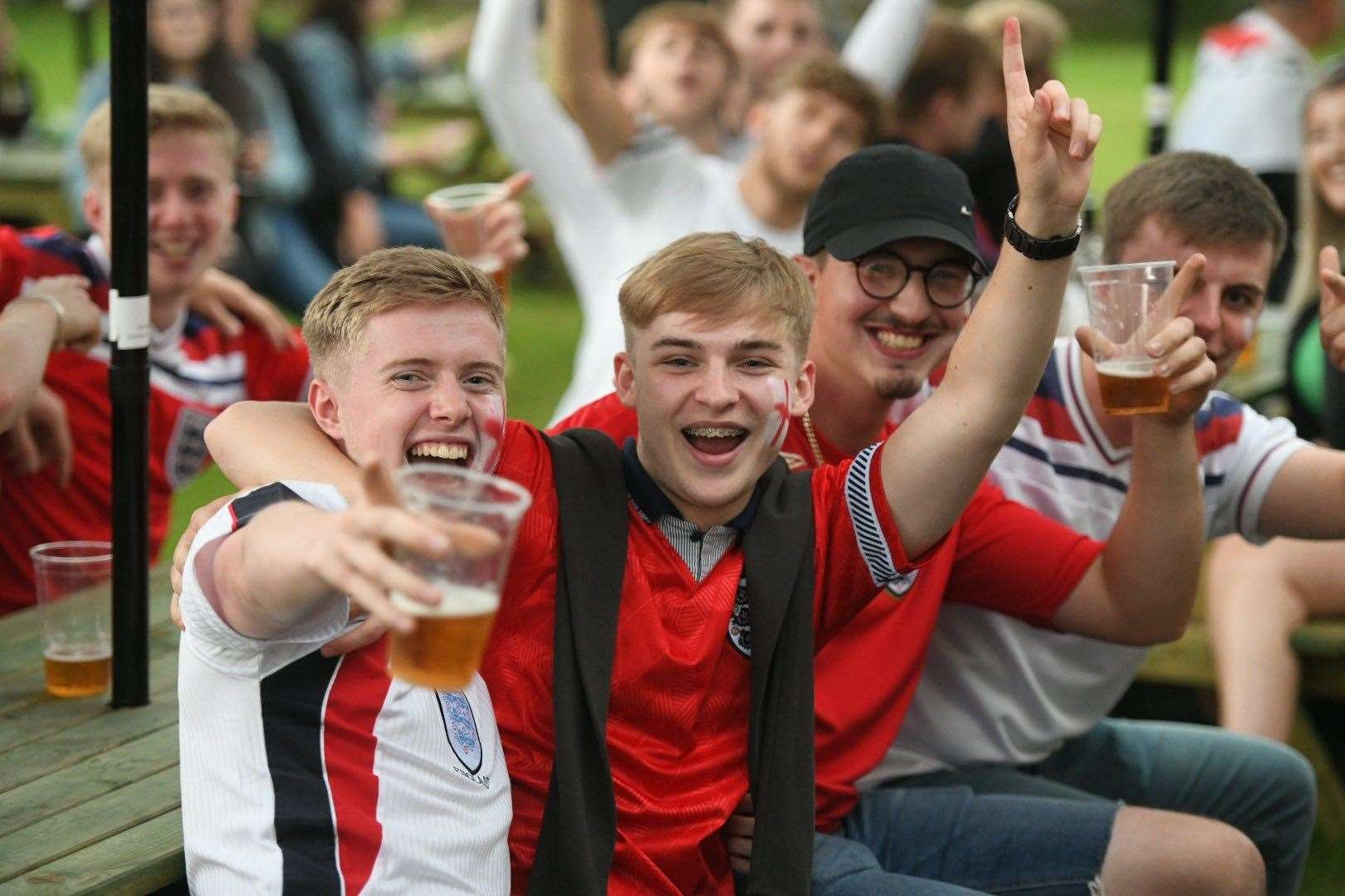 Delight on the faces of these England supporters (49088097)