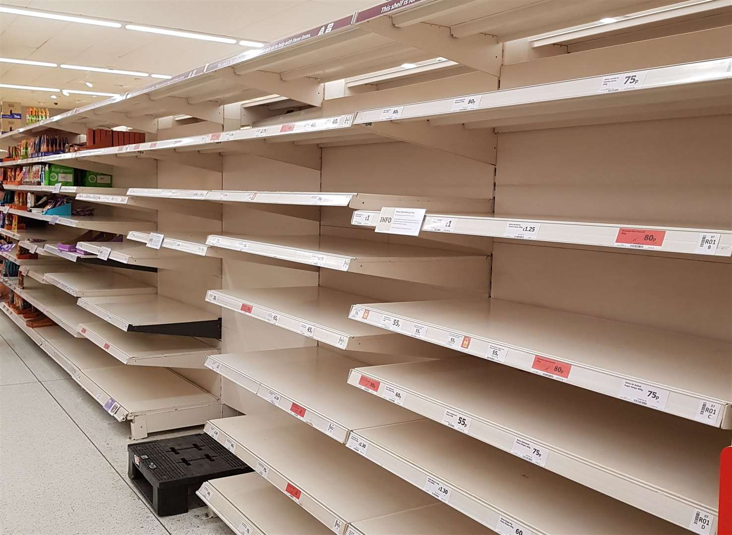 Could we see our shelves empty at Christmas?