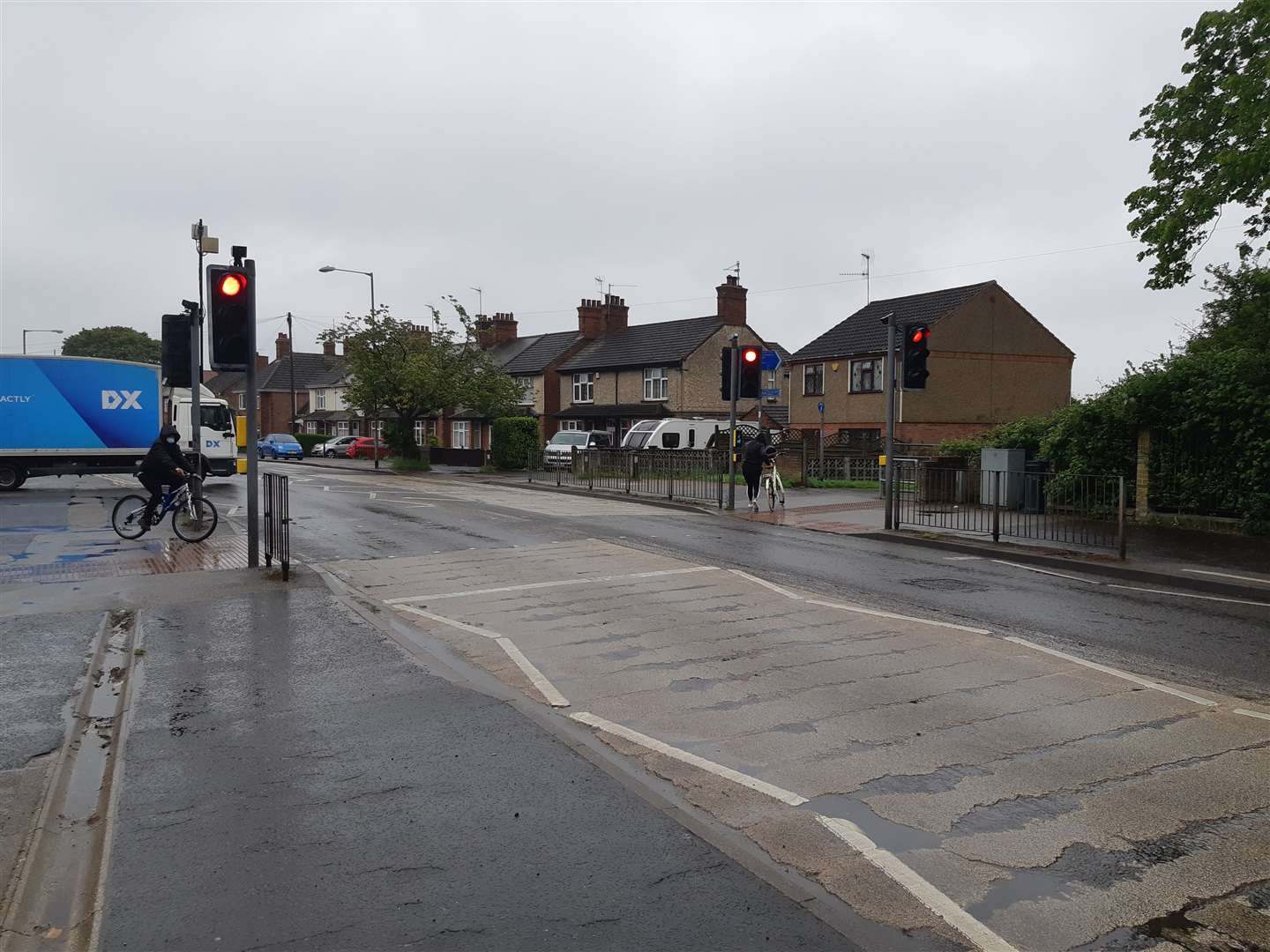 Separate crossing points will be provided for pedestrians and cyclists at this site on Gaywood Road following work which is due to begin next week. (47590361)