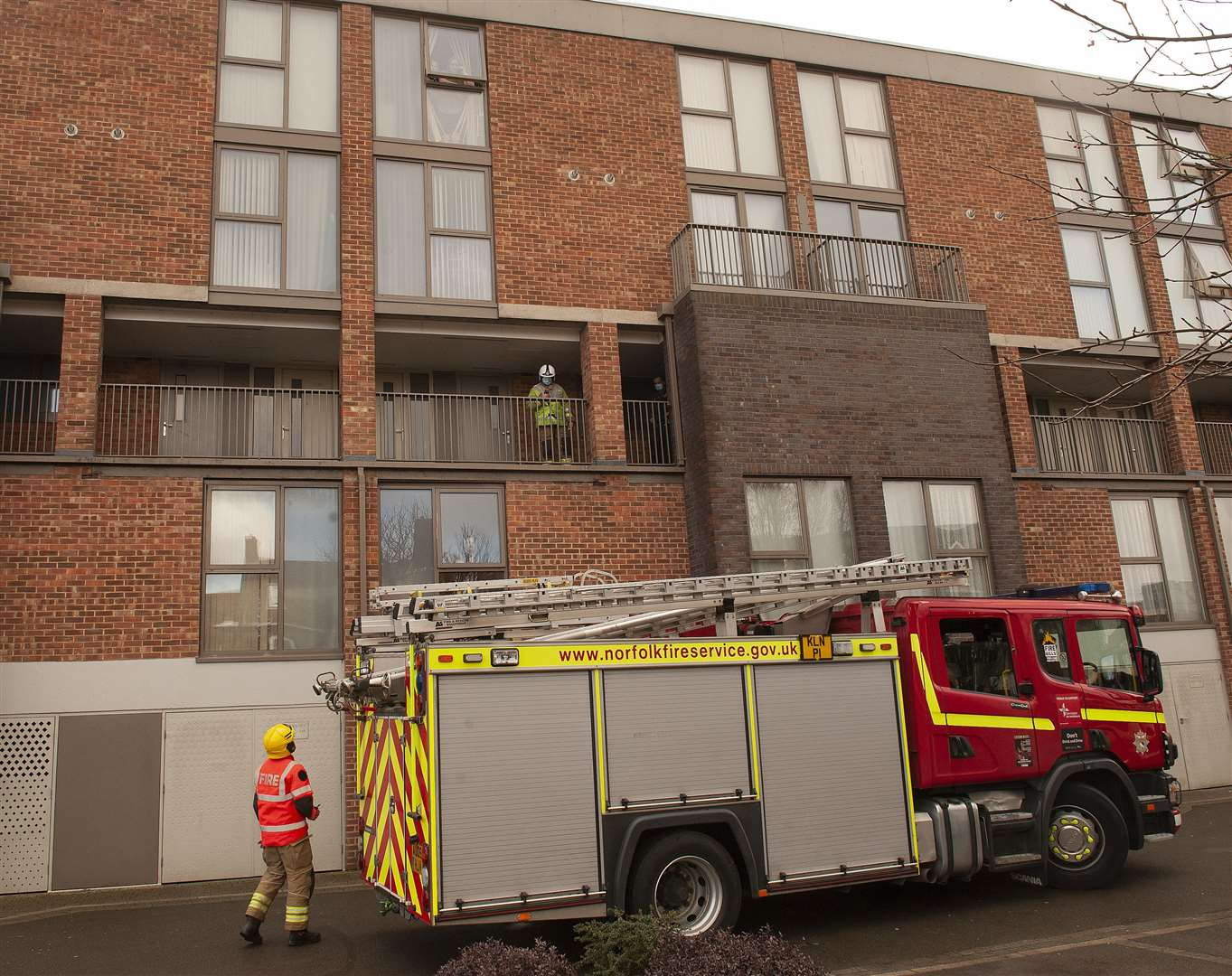 Incident at Hillington Square King's lynn Emergency Services at the scene.. (44289384)
