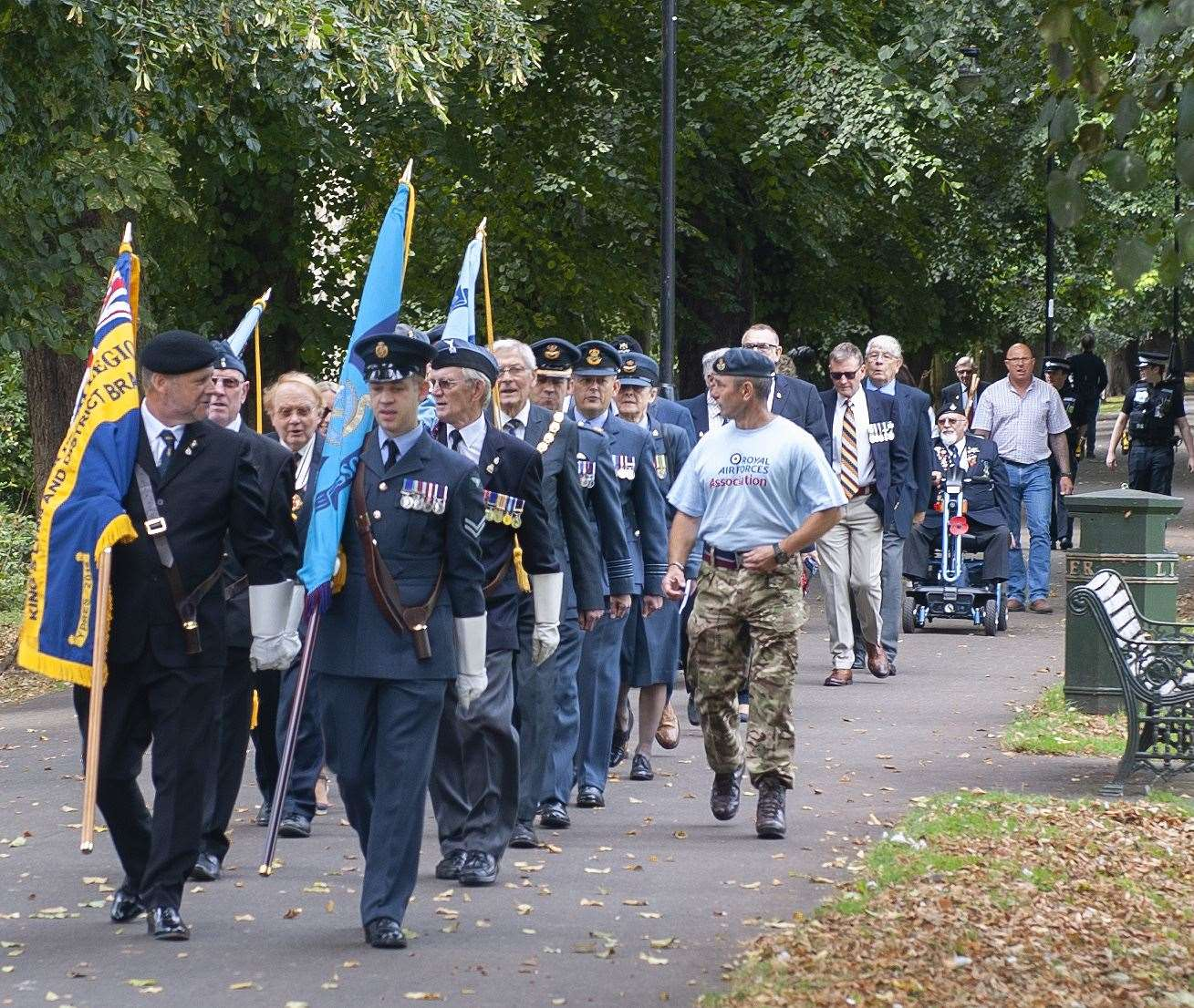 Royal Air Forces Association 81st Anniversary of the Battle Of Britain Service of Commemoration. at Tower Gardens King's Lynn.. (51174922)